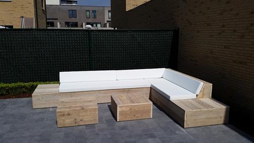 Resultado de imagem para loungebank tuin steigerhout madeira