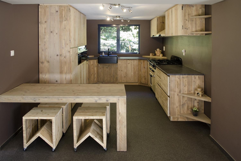 Steigerhout Bar Keuken : Steigerhouten keuken steigermeubelsxl