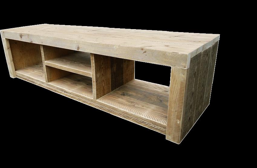Praktische prachtige steigerhout tv meubel for Steigerhout tv meubel maken